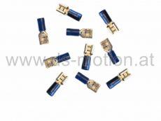 Flachsteckhülse 6,3 mm, blau, 10 Stück