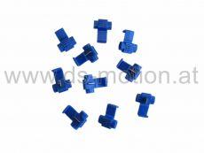 Abzweigverbinder blau, 10 Stück