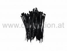 Kabelbinder 2,5 x 100 mm, schwarz, Polyamid, verschleißfest, 100 Stück