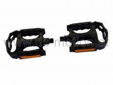 Pedal schwarz, MTB, Kunststoff, kugelgelagert, mit Prüfnummer, per Paar