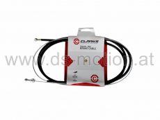 Bremszugset hinten, universal für MTB und Rennrad, Walzen- und Birnennippel, Hülle schwarz 1800 mm, Zug verzinkt 2000 mm