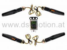 LED Blinker Umbaukit, Lauflicht, DS RACING, sequentiell, weiß, schwarz