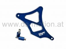 Ritzelabdeckung blau, Aluminium eloxiert, Minarelli AM6, Aprilia, Beta, Explorer, Generic, HRD, Keeway, KSR, Malaguti, MBK, MH, Peugeot, Ride, Rieju, Yamaha