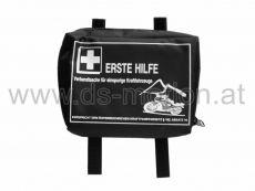 Verbandszeug schwarz, mit Klettverschluß, 14x10x3 cm für Motorrad, Moped und Fahrrad