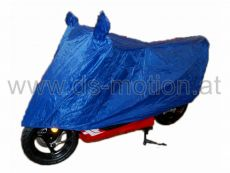 Mopedgarage blau inkl. Transporttasche, für 50 ccm Fahrzeuge - verwandelt sich mit wenigen Handgriffen in einen Regenschutz für den Lenker