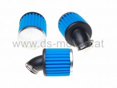 Luftfilter Racing High Performance Ø = 38 mm, blau, 45°