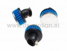 Luftfilter Racing High Performance Ø = 35 mm, blau, 45°