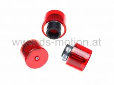 Luftfilter Racing High Performance Ø = 35 mm, rot, gerade, Agrylglasabdeckung