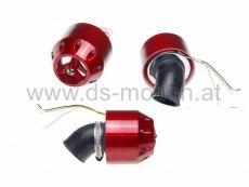 Luftfilter Racing High Performance LED Beleuchtung Ø = 32 mm, 45°, rot metallic, Spritzwasserschutz