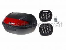 Top Case universal, schwarz, 48 Liter, 60 x 44 x 31,5 cm, Platz für zwei Integralhelm