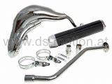 Auspuff Turbo Kit chrom, Endämpfer carbon, Explorer Sniper, Generic Trigger, KSR Moto TR, Keeway TX, X-Ray, Ride MRS, MRX, Thorn