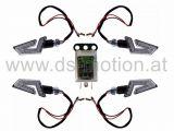 LED Blinker Umbaukit DS RACING komplett weiß, schwarz mit Blinkerrelais