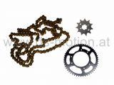 Antriebssatz 11/53, GOLD-EDITION, Aprilia RX 2011-, SX 2011, Derbi Senda R, SM DRD Pro 2004-, Racing 2004-, Senda R X-Treme 2011-, Gilera RCR 2011-