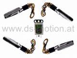 LED Blinker Umbaukit, Lauflicht, DS RACING, sequentiell, weiß, chrom